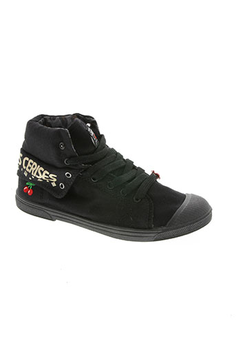 le temps des cerises chaussures fille de couleur noir