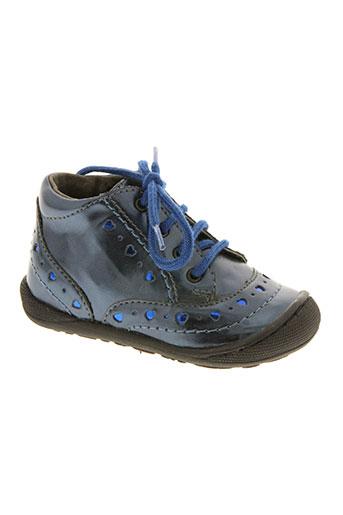 mod8 chaussures fille de couleur bleu