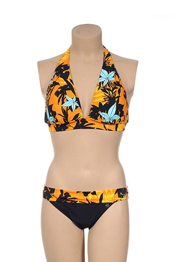 platja maillots de bain femme de couleur orange