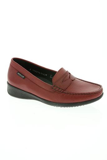 mephisto chaussures femme de couleur rouge