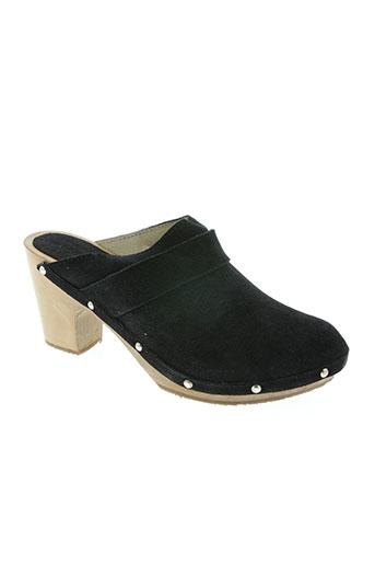 les sabots de quatuor chaussures femme de couleur noir