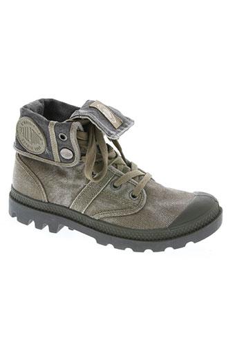 palladium chaussures femme de couleur vert
