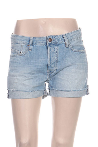 teddy smith shorts / bermudas femme de couleur bleu
