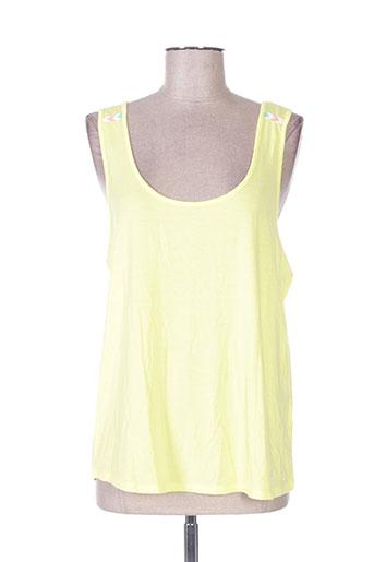 banana moon t-shirts femme de couleur jaune