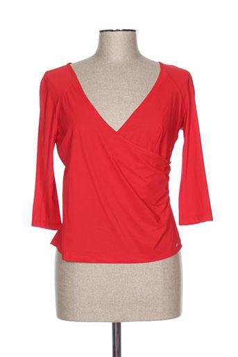 cassiopee t-shirts femme de couleur rouge