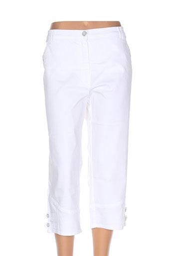 stark pantacourts femme de couleur blanc