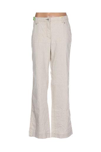 club of comfort pantalons femme de couleur beige