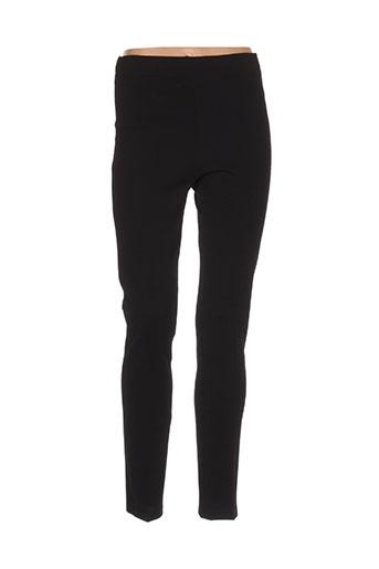 oltre tempo pantalons femme de couleur noir
