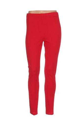 oltre tempo pantalons femme de couleur rouge