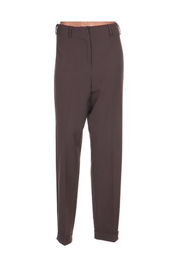 franck anna pantalons femme de couleur gris