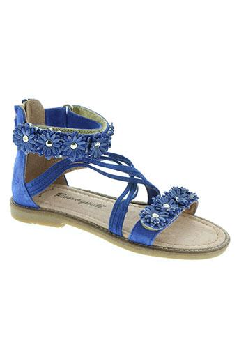 romagnoli chaussures fille de couleur bleu