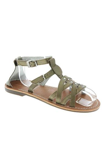 aster chaussures fille de couleur marron