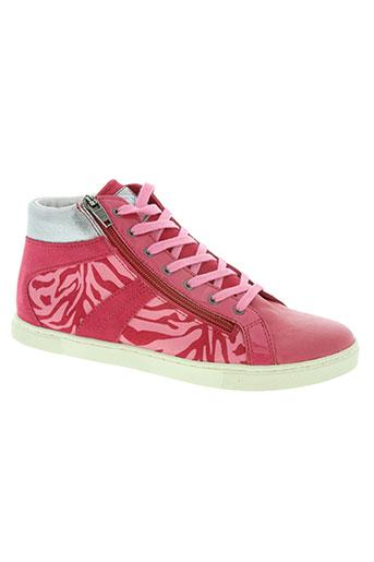 palladium chaussures femme de couleur rose