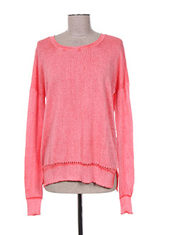 Pull col rond rose CHICAMA pour femme