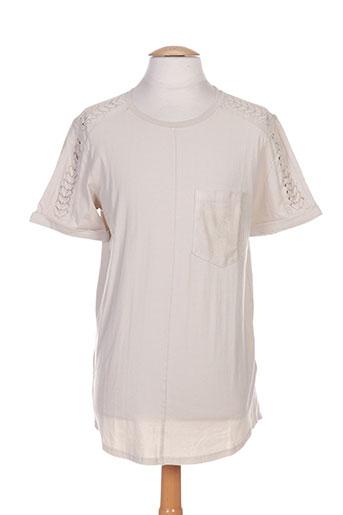 T-shirt manches courtes beige BLACK KAVIAR pour homme
