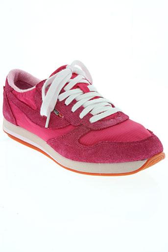 diesel chaussures femme de couleur rose
