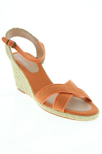 pepe jeans chaussures femme de couleur orange