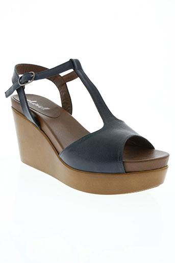 aliwell chaussures femme de couleur bleu