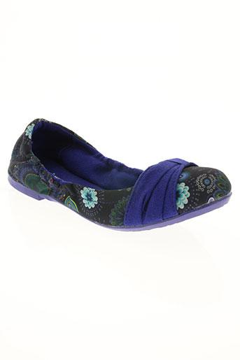 desigual chaussures femme de couleur bleu
