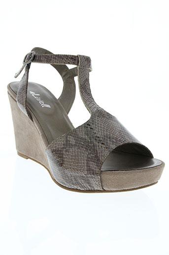 Sandales/Nu pieds marron ALIWELL pour femme