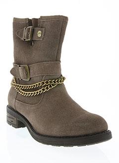 Bottines/Boots beige LES P'TITES BOMBES pour femme