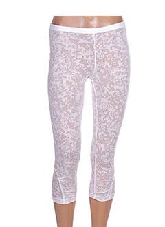 8169a57156e Pantalons MALOKA Femme De Couleur Blanc En Soldes Pas Cher - Modz