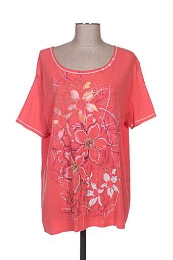 plurielles t-shirts femme de couleur orange