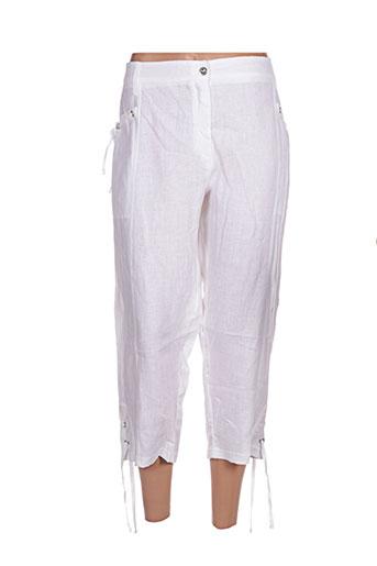 maloka pantacourts femme de couleur blanc