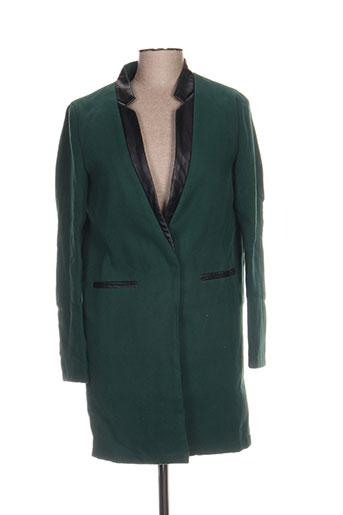 sweewë manteaux femme de couleur vert