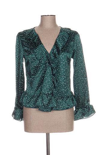 daphnea chemises femme de couleur vert