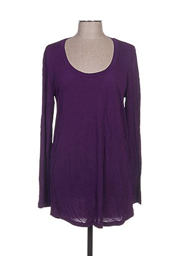 hugo boss t-shirts femme de couleur violet
