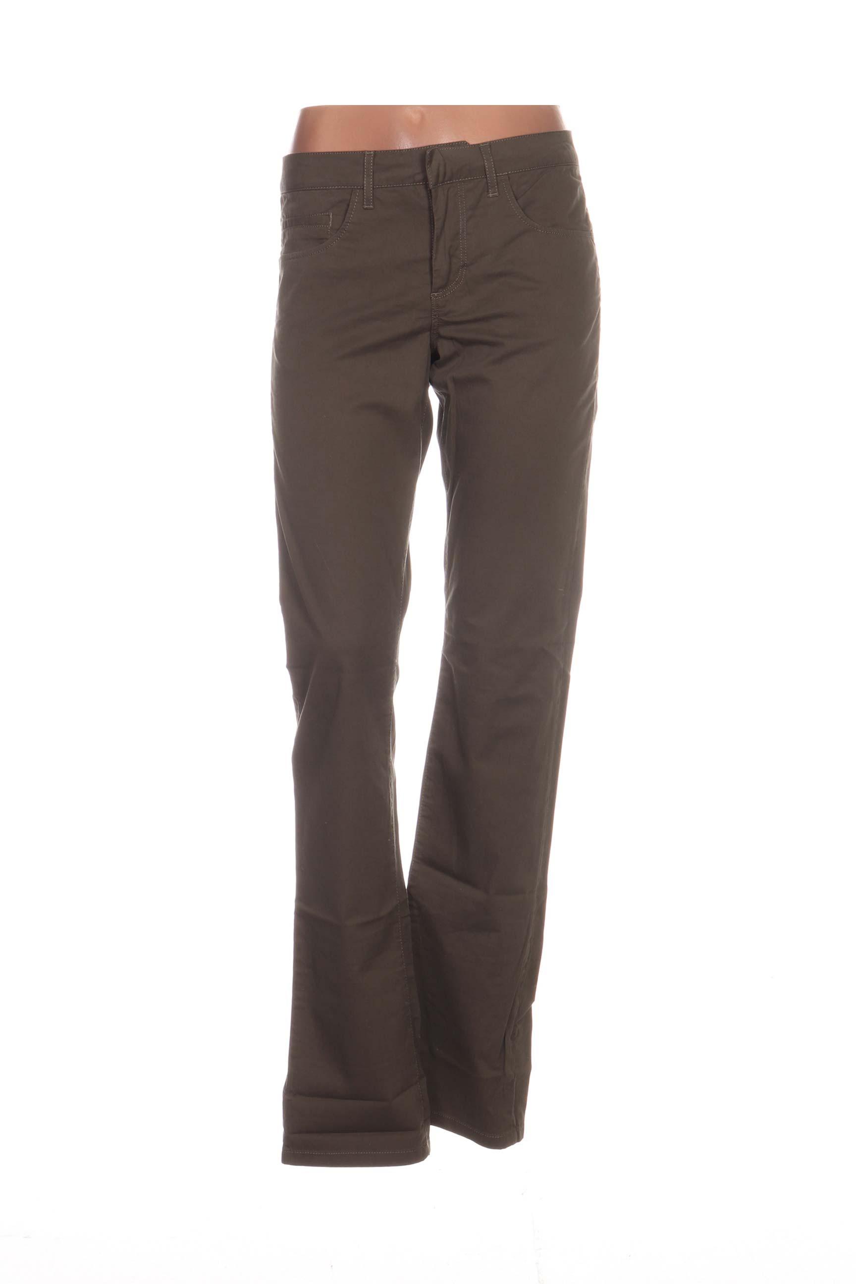 LACOSTE Pantalons Pantalons casual de couleur vert en soldes pas cher 1169286 vert00 Modz