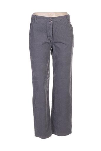 blanc boheme pantalons femme de couleur gris