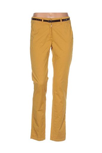 voodoo pantalons femme de couleur jaune