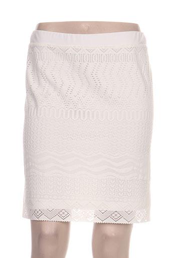 rose electron jupes femme de couleur blanc