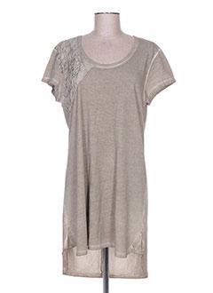 Robe courte gris GRIFFONNAGE pour femme
