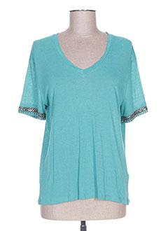 T-shirt manches courtes bleu IKKS pour femme