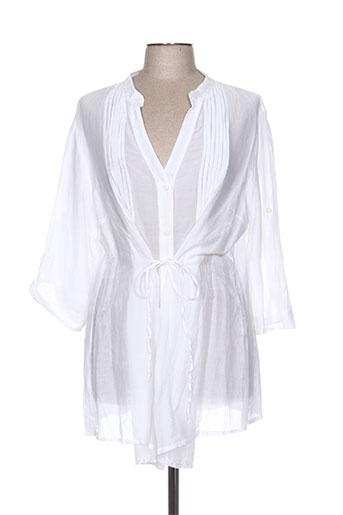 jean gabriel chemises femme de couleur blanc