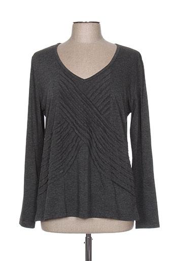 jean gabriel t-shirts femme de couleur gris