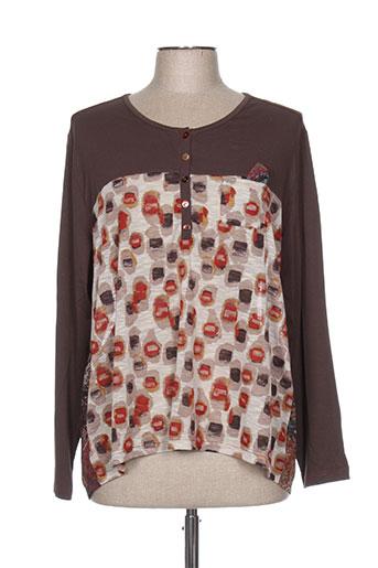 jean gabriel chemises femme de couleur marron