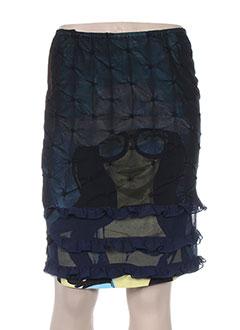 Jupe mi-longue bleu CUSTO pour femme