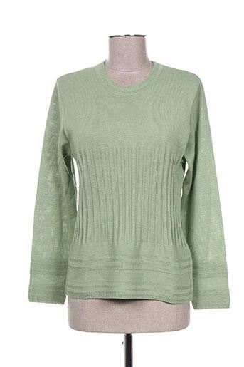 pauporté pulls femme de couleur vert