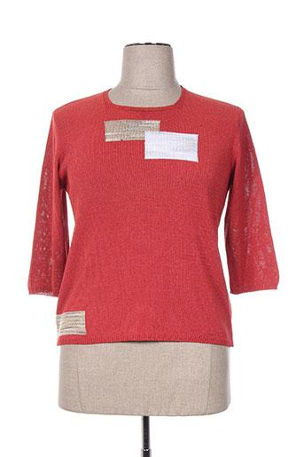 fileuse d'arvor pulls femme de couleur rouge
