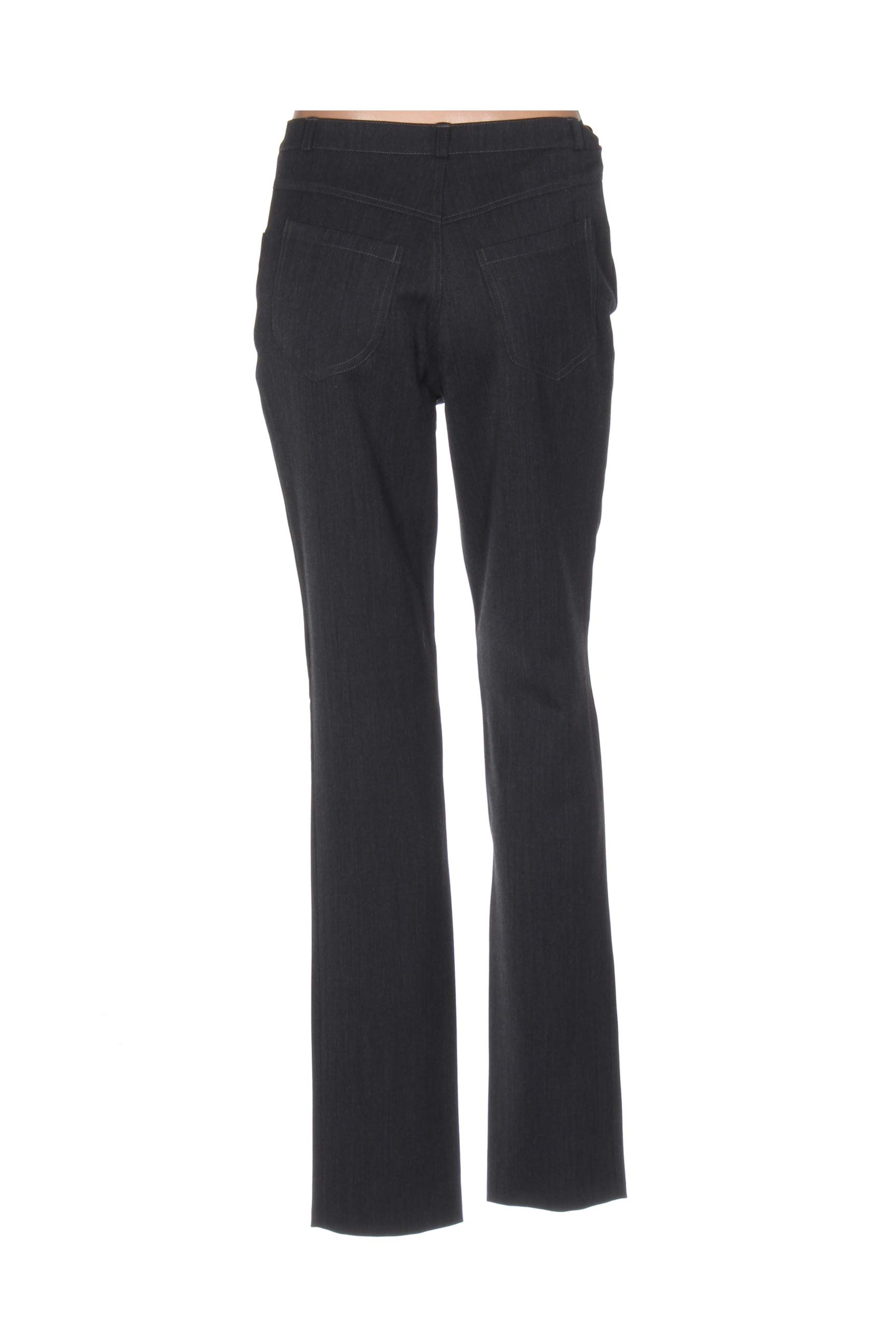 Quattro Pantalons Decontractes Femme De Couleur Gris En Soldes Pas Cher 1171401-gris00
