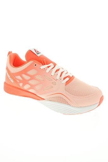 reebok chaussures homme de couleur orange