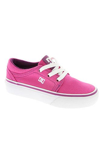 dc chaussures fille de couleur rose