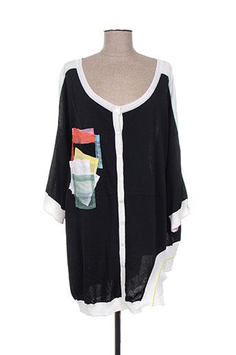tricot chic gilets femme de couleur noir