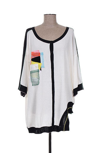 tricot chic gilets femme de couleur blanc