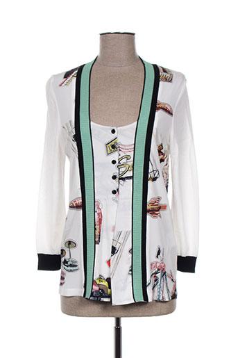tricot chic vestes femme de couleur blanc
