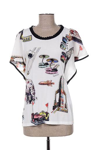 tricot chic chemises femme de couleur blanc